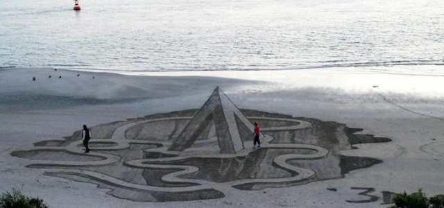 Απίστευτα 3D σχέδια στην παραλία.
